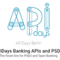 APIDays Banking APIs and PSD2 (Nov 7-8, Berlin)
