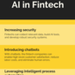 How artificial intelligence and fintech can work together